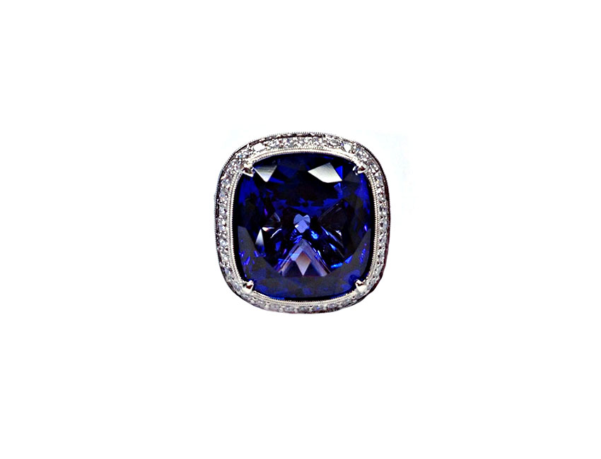 Sapphire Gatsby Cocktail Ring
