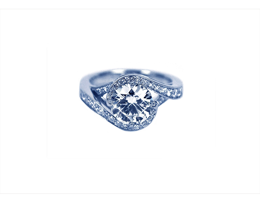 Eternity Round Brilliant Engagement Ring