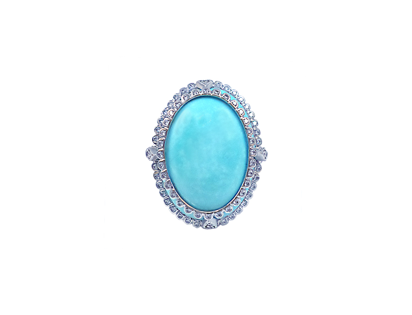 Sleeping Beauty Turquoise Cocktail Ring