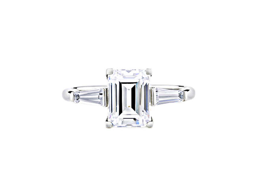 GRACE TAPERED BAGUETTE ENGAGEMENT RING