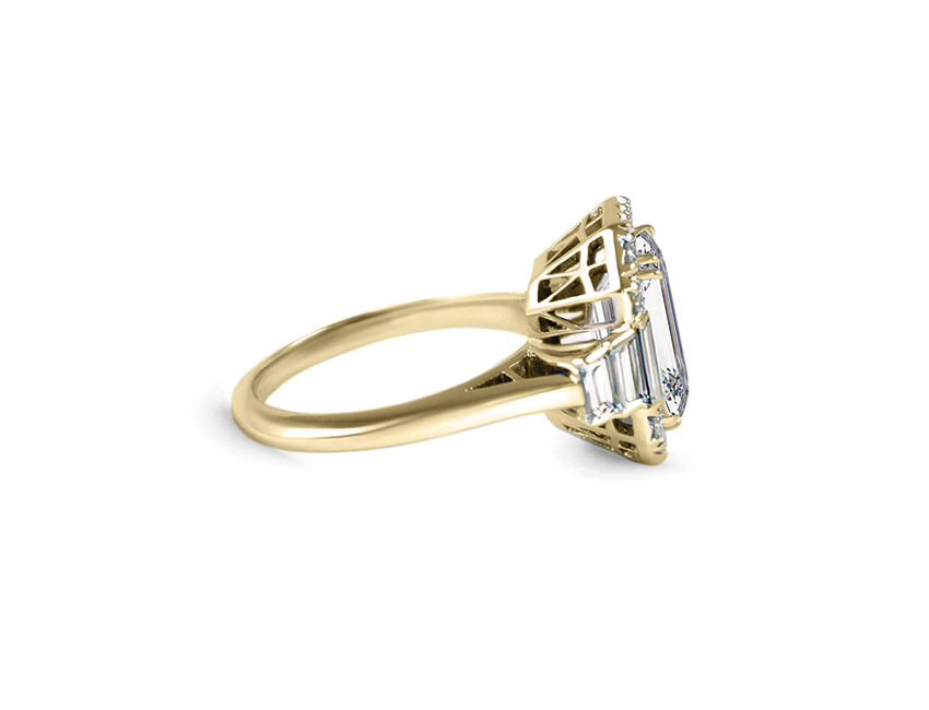 Allure Emerald Cut Engagement Ring, Emerald Cut Diamond, Allure Emerald Cut, Scout Mandolin